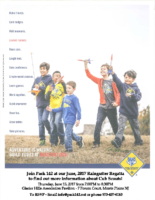Cub Scout Flyer – June 2017
