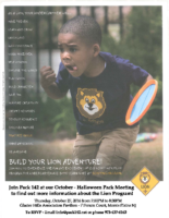 October Lion Flyer